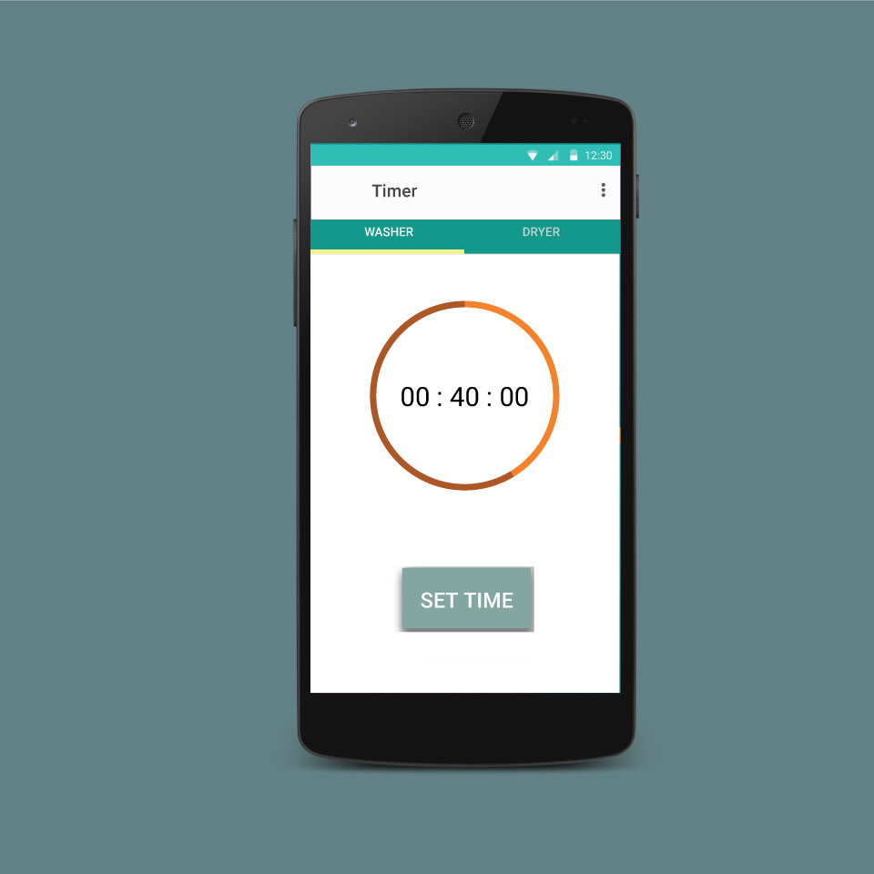 laundry timer app screen